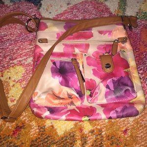 4/$25 Rosetti multicolor floral crossbody purse